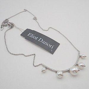Eliot Danori Silver-Tone/ Faux Pearl Necklace N23